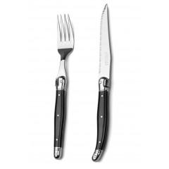 Laguiole Debutant Cutlery Set Black 12pcs
