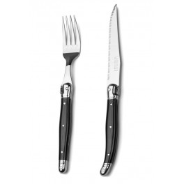 Laguiole Debutant Cutlery Set Black 12pcs