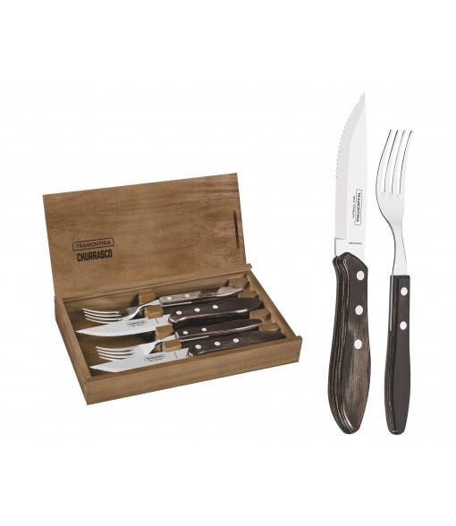Polywood 4 Piece Fandango FSC Certified Steak Cutlery Set by Tramontina