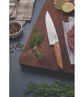 """Tramontina Verttice 8"""" utility knife with stainless steel blade and natural wood handle"""