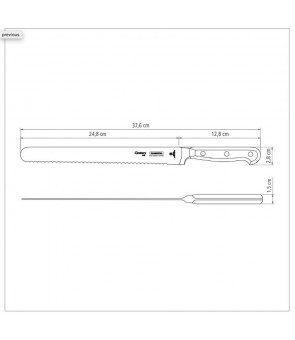 "Tramontina Century 10"" Hamslicer Stainless Steel Blade Reinforced Polycarbonate Handle"
