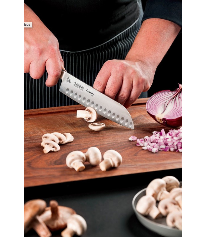 "Tramontina Santoku 5"" Cooks Stainless Steel Blade Reinforced Polycarbonate Handle"
