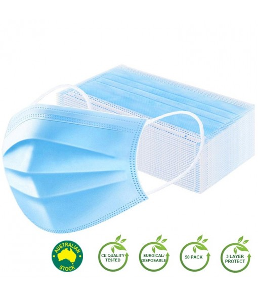 Surgical Face Mask Disposable 3 PLY 10/50/100 Packs