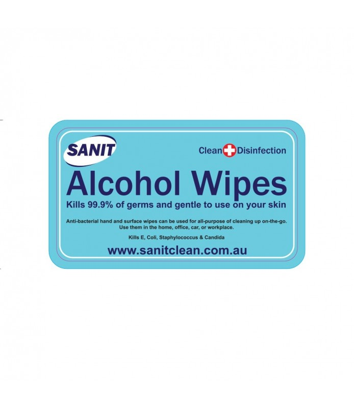 SANIT Alcohol Hand Wipes 50 Pcs