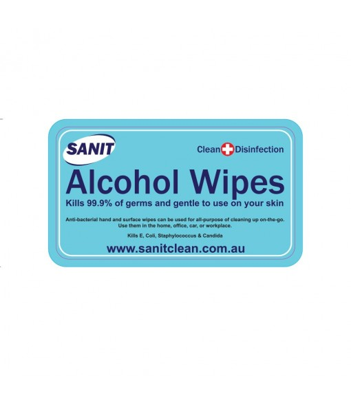 SANIT Alcohol Hand Wipes 1/50/100 PCS